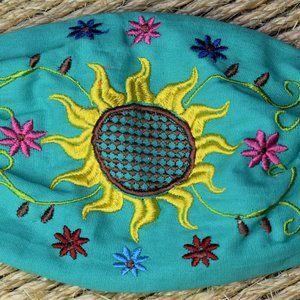 Mint Solar Flower Face Mask-Artesania Mexicana